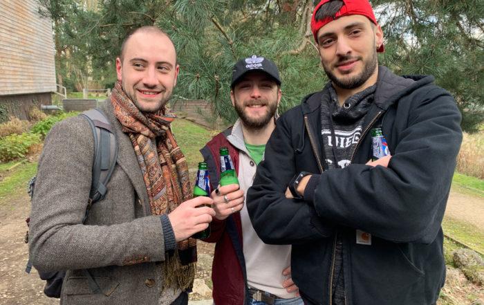 Thibaud, Toinou et Toto le kop de pernes les fontaines
